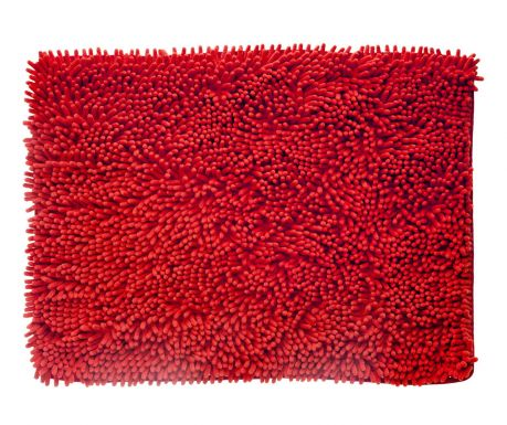 Covoras de baie Soft Red 45x60 cm