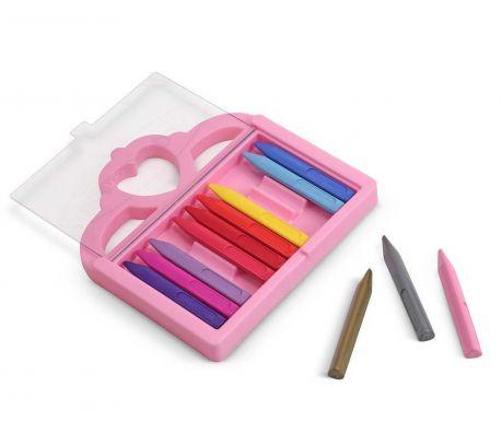Set 12 creioane colorate si cutie Princess