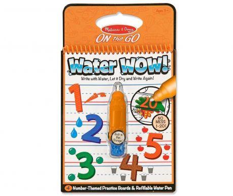 Set bilježnica za bojanje i olovka Water Wow Numbers