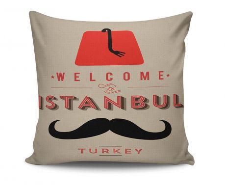 Διακοσμητικό μαξιλάρι Welcome to Istanbul 45x45 cm