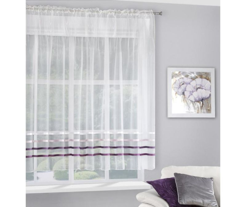 Zavesa Gabi Evio Cream Purple 160x295 cm