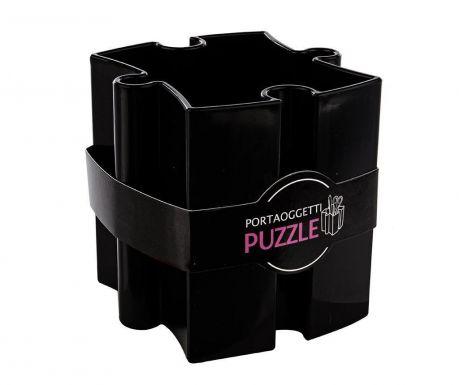 Stojan na propisky Puzzle Black