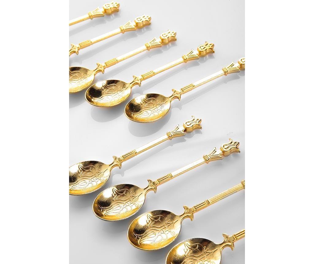 Set 12 lingurite Naim Gold