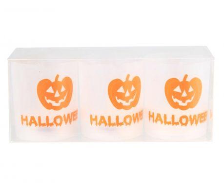 Set 3 lumanari cu LED Halloween