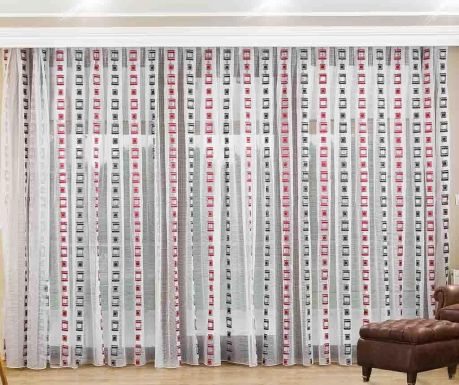 Curtain Giulia Red 200x260 cm