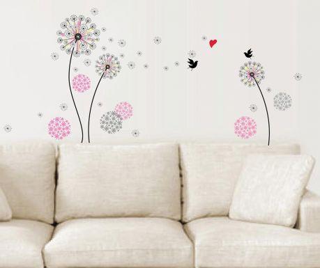 Naklejka Pink Dandelion