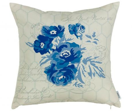 Povlak na polštář Blue Flower 43x43 cm
