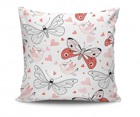 Decorative cushion Birds and Insects 45x45 cm
