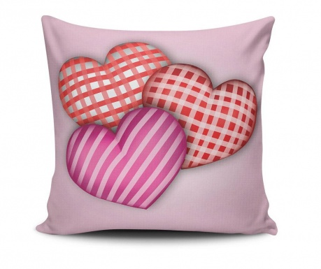 Okrasna blazina Stripes Hearts 45x45 cm