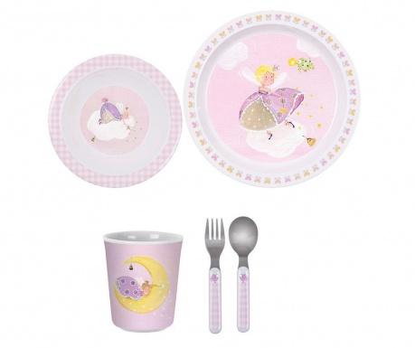 Set de masa pentru copii 5 piese Little Princess