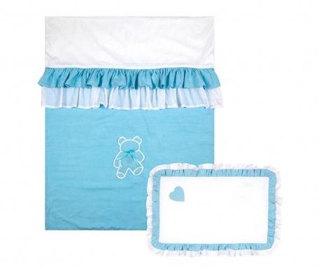 Комплект ватирана кувертюра за детско легло Sweet Dreams Blue