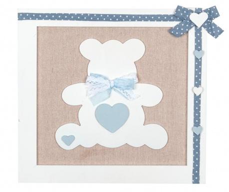 Teddy Bear Blue Fali dekoráció