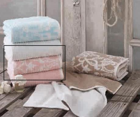 Πετσέτα μπάνιου Pure Nature Cream Pink 50x90 cm