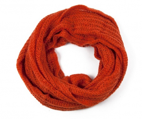 Fular circular Mia Orange 40x130 cm