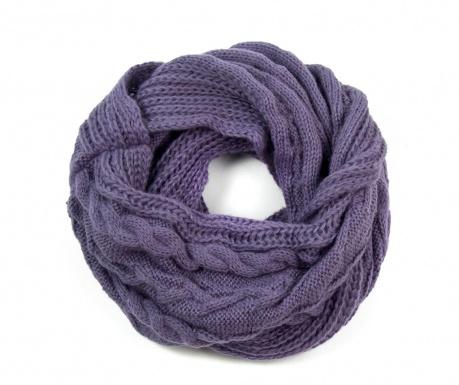 Fular circular Happy Purple 35x120 cm