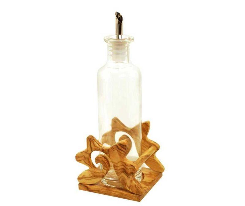 Set - steklenica za olje ali kis in držalo Curly Star 350 ml