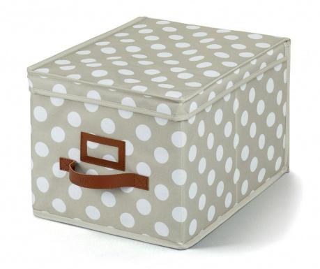Skladovacia krabica s vrchnákom Jolie Cream S