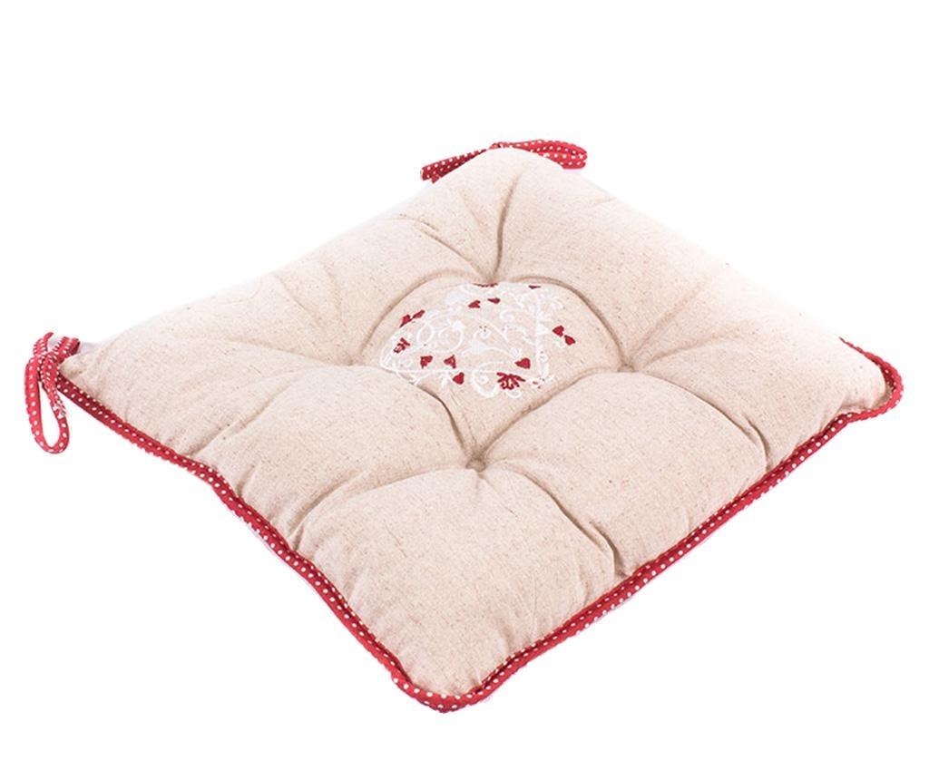Sedežna blazina Lovely Heart Red 40x40 cm