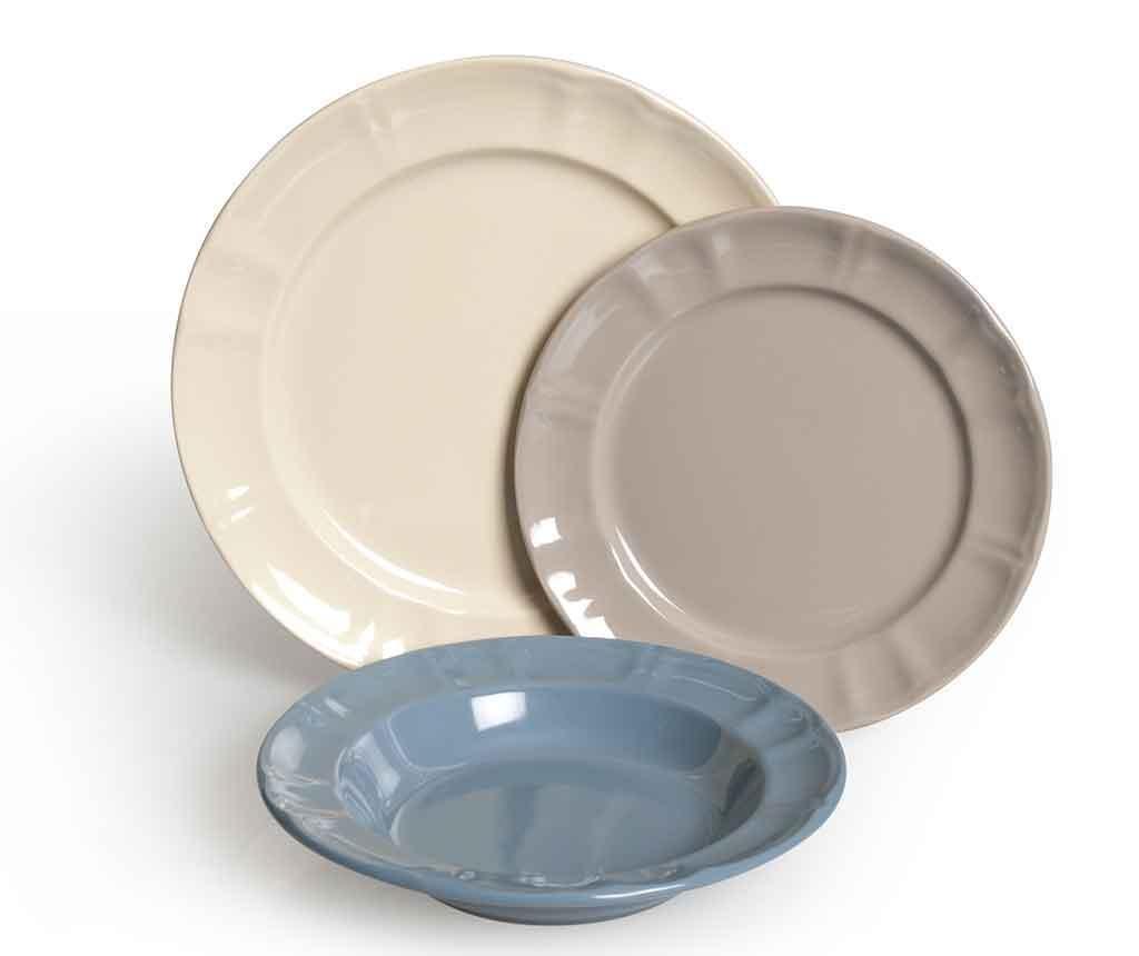 18-dijelni servis za jelo Country Chic Grey