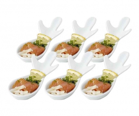 Комплект 6 лъжици за аперитиви Fishy