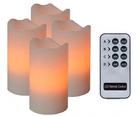 Zestaw 4 świeczek z diodą LED Zoey