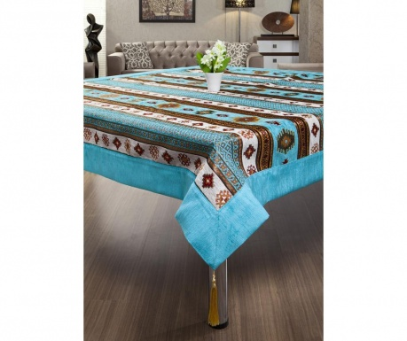 Покривка за маса Sedef Turquoise 155x155 см
