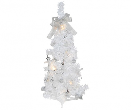 Brad artificial cu LED-uri White Tree 60 cm