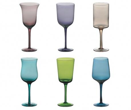 Сервиз 6 чаши със столче Goblet 400 мл