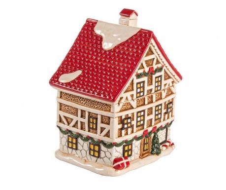 Pojemnik z pokrywką na biszkopty Christmas House Red