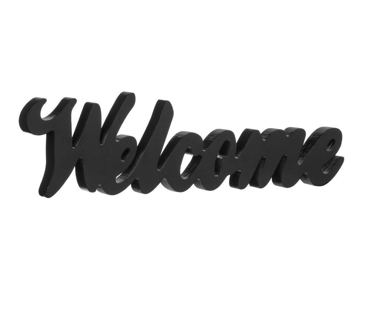 Dekoracija Welcome Black