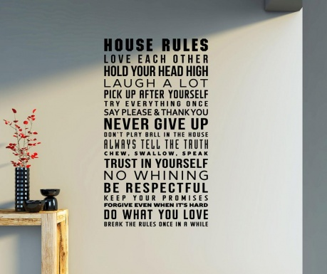 Naklejka House Rules