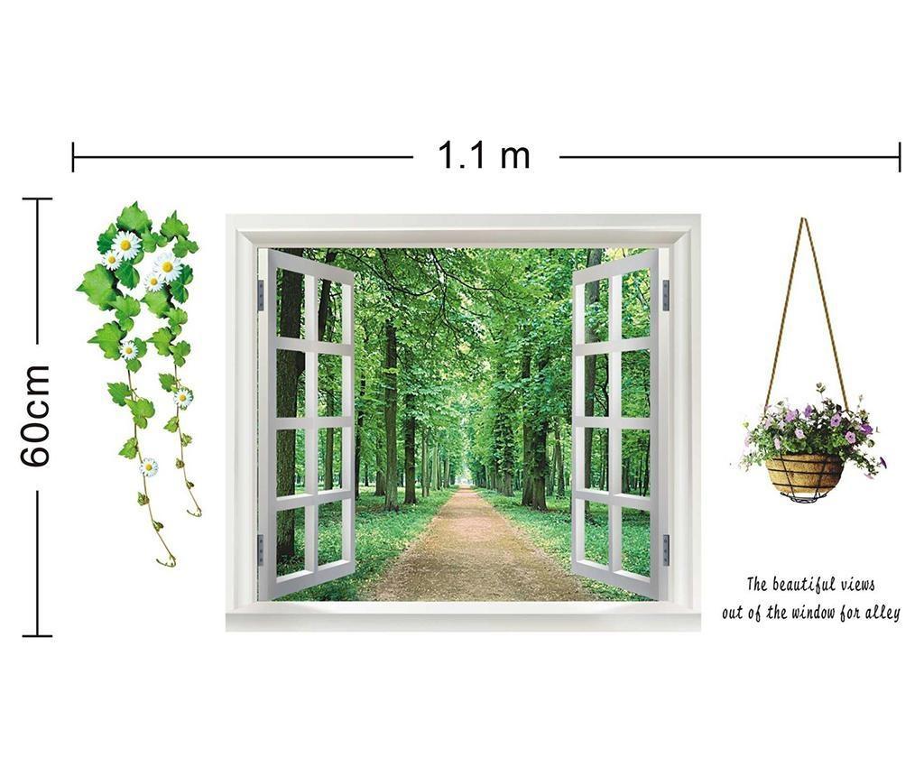 Green View Flower 3D Matrica