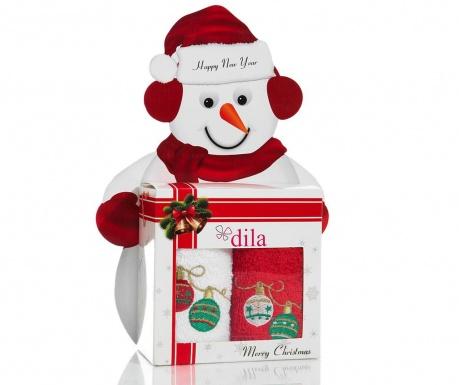 Christmas Balls Gift 2 db Fürdőszobai törölköző 30x50 cm