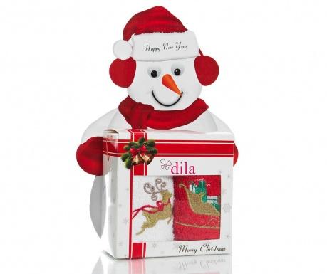 Set 2 kopalniških brisač Deer and Sledge Gift 30x50 cm