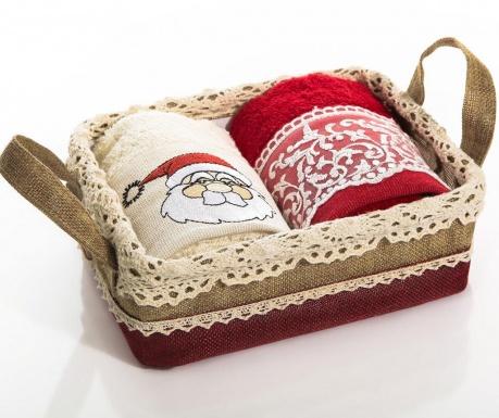 Set 2 brisač v košarici Santa Curls 40x60 cm