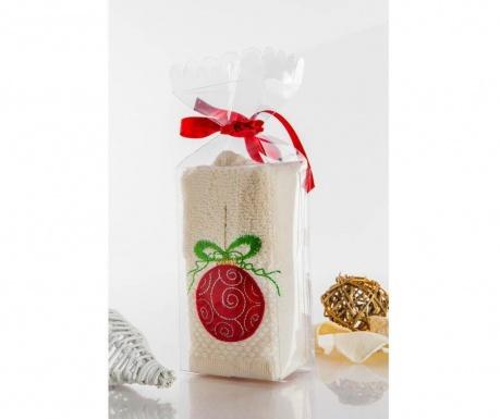 Kopalniška brisača Bauble Cream Gift 30x45 cm