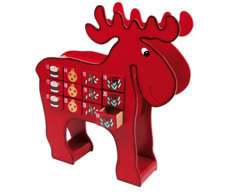 Dekoracja z kalendarzem adwentowym Elk Reindeer