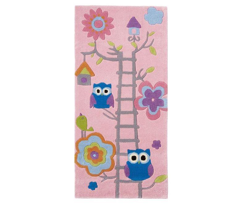 Koberec Owl on Ladder Pink 70x140 cm