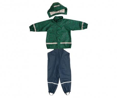 Komplet - otroška nepremočljiva jakna in kombinezon Bimo Marine 10 mesecev