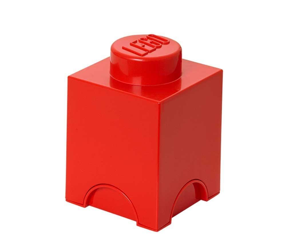 Cutie cu capac Lego Square Red
