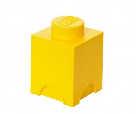 Cutie cu capac pentru depozitare Lego Square Yellow
