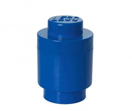 Lego Round Blue Doboz fedővel