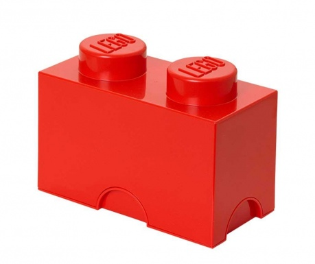 Kutija s poklopcem Lego Rectangular Red