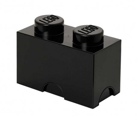 Lego Rectangular Black Doboz fedővel