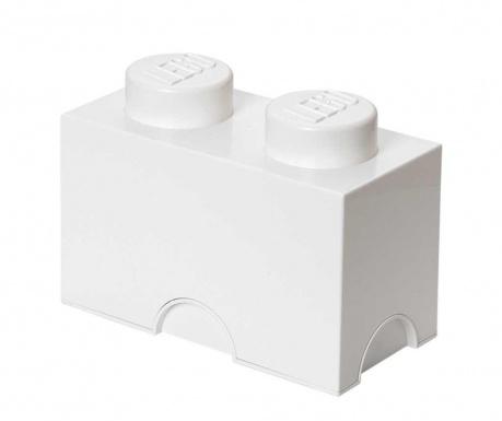 Kutija za pohranu s poklopcem Lego Rectangular White