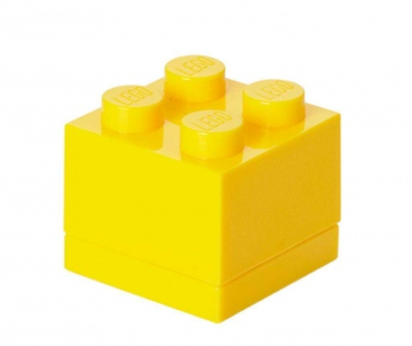 Kutija s poklopcem Lego Mini Square Yellow