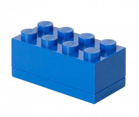 Krabica s vekom Lego Mini Rectangular Blue