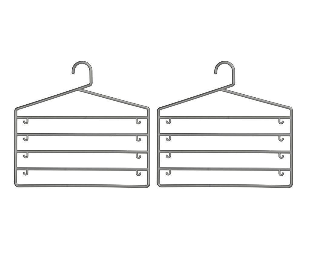 Set 2 vješalice za hlače Sharp Grey