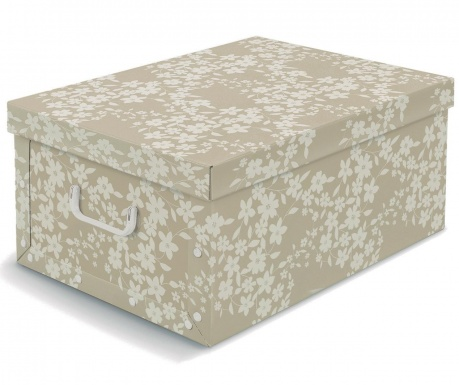 Úložný box s vekom Spring Beige L