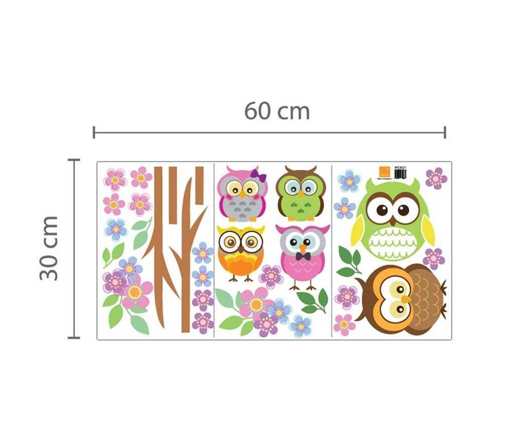 Colourful Family of Owls Matrica